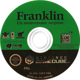 Franklin: A Birthday Surprise GameCube disc (GQFFFK)