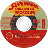 Superman: Shadow of Apokolips GameCube disc (GSUP70)