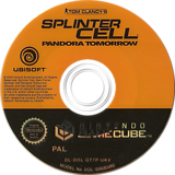Tom Clancy's Splinter Cell: Pandora Tomorrow GameCube disc (GT7P41)