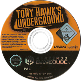 Tony Hawk's Underground GameCube disc (GTDP52)