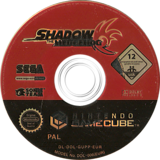 Shadow the Hedgehog GameCube disc (GUPP8P)