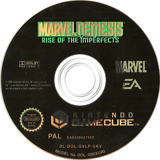 Marvel Nemesis: Rise of the Imperfects GameCube disc (GVLP69)