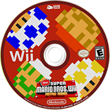 New Super Mario Bros. Wii Retro Remix CUSTOM disc (MRRP01)