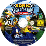 Sonic & SEGA All-Stars Racing Wii disc (R3RP8P)