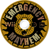 Emergency Mayhem Wii disc (REGP36)
