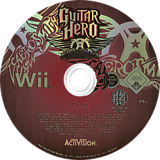 Guitar Hero: Aerosmith Wii disc (RGVP52)