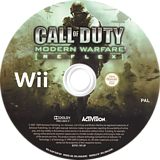 Call of Duty: Modern Warfare - Reflex Edition Wii disc (RJAP52)