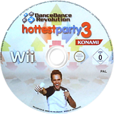 Dance Dance Revolution: Hottest Party 3 Wii disc (RJRPA4)