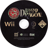 Legend Of The Dragon Wii disc (RLDPFK)