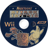 Nicktoons: Attack of the Toybots Wii disc (RN3P78)