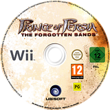 Prince of Persia: The Forgotten Sands Wii disc (RPWX41)