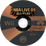 NBA Live 09 All-Play Wii disc (RQ9P69)
