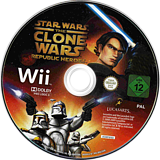 Star Wars The Clone Wars: Republic Heroes Wii disc (RQLP64)