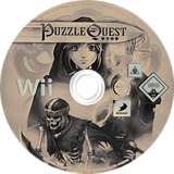 Puzzle Quest: Challenge of the Warlords Wii disc (RQWPG9)
