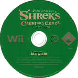 Shrek's Carnival Craze Party Games Wii disc (RRQP52)