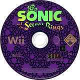 Sonic and the Secret Rings Wii disc (RSRP8P)