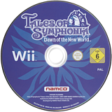 Tales of Symphonia: Dawn of the New World Wii disc (RT4PAF)