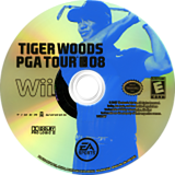 Tiger Woods PGA Tour 08 Wii disc (RT8P69)