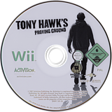Tony Hawk's Proving Ground Wii disc (RT9P52)