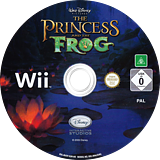 Disney The Princess and the Frog Wii disc (RU5P4Q)
