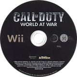 Call of Duty: World at War Wii disc (RVYP52)