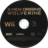 X-Men Origins: Wolverine Wii disc (RWUX52)