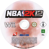 NBA 2K12 Wii disc (S2QP54)