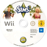 The Sims 3 Wii disc (S3MP69)