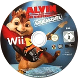 Alvin and the Chipmunks: The Squeakquel Wii disc (SAVX5G)