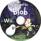 A Boy and His Blob Wii disc (SBLP5G)