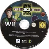 Ben 10: Alien Force Vilgax Attacks Wii disc (SBNPG9)