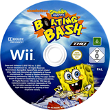 SpongeBob's Boating Bash Wii disc (SBVP78)