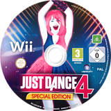 Just Dance 4 Wii disc (SJXD41)