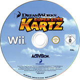DreamWorks Super Star Kartz Wii disc (SKZP52)