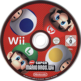 New Super Mario Bros. Wii Wii disc (SMNP01)