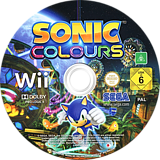Sonic Colours Wii disc (SNCP8P)