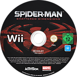 Spider-Man: Shattered Dimensions Wii disc (SPDP52)