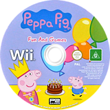 Peppa Pig: Fun & Games Wii disc (SPGPPN)