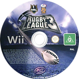 Rugby League 3 Wii disc (SRBPHS)
