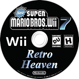 New Super Mario Bros. Wii 7 Retro Heaven CUSTOM disc (SRHP01)