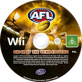 AFL Live: Game of the Year Edition Wii disc (SS6UHS)