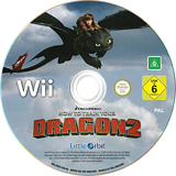 How to Train Your Dragon 2 Wii disc (SVZPVZ)