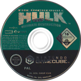 The Incredible Hulk Ultimate Destruction GameCube disc (GHUP7D)