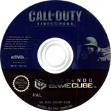 Call of Duty: L'Ora Degli Eroi GameCube disc (GCOP52)