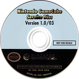 GameCube Service Disc GameCube disc (301E01)