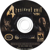 Resident Evil 4: Preview Disc GameCube disc (D4BE08)