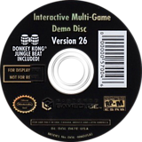 Interactive Multi-Game Demo Disc - Version 26 GameCube disc (D67E01)