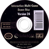 Interactive Multi-Game Demo Disc - Version 24 GameCube disc (D69E01)