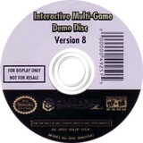 Interactive Multi-Game Demo Disc - Version 8 GameCube disc (D92E01)