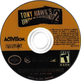 Tony Hawk's Underground 2 GameCube disc (G2TE52)